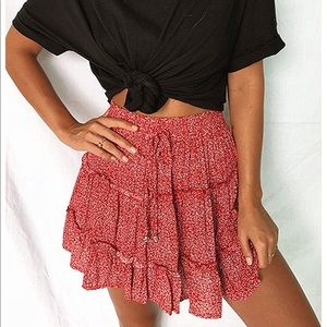 Casual High Waist Elastic Skirt
